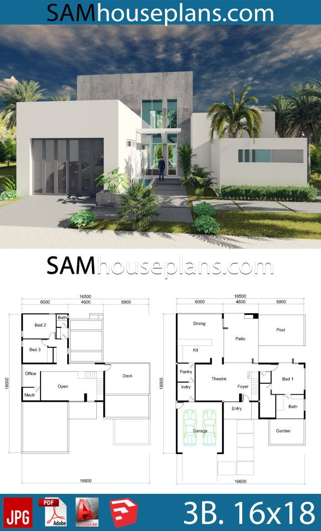 House Plans 16x18 With 3 Bedrooms House Plans Bungalow House