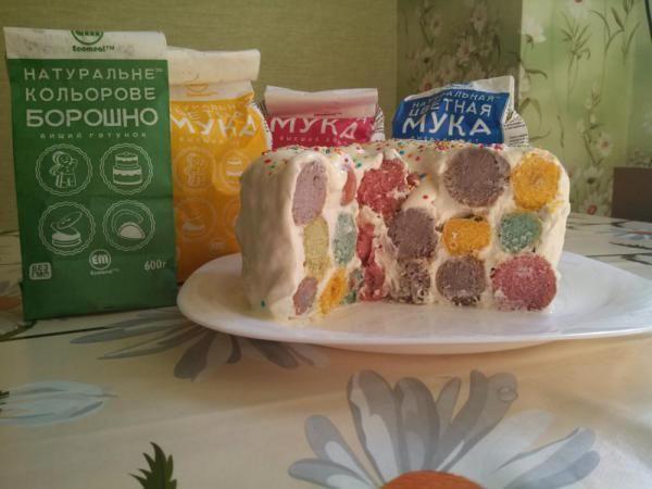 """Торт """"Пижамка"""" из цветной муки Ecomeal"""