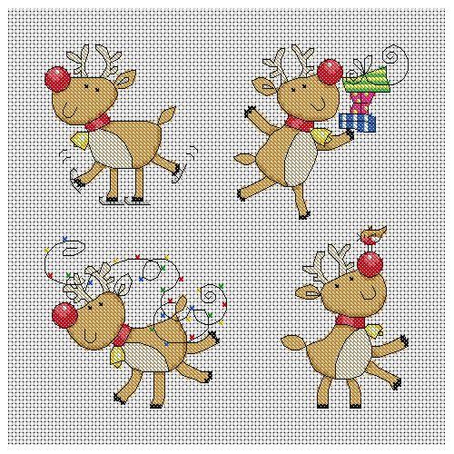 Cross Stitch Christmas Tree Decorations