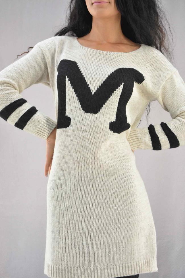 Γυναικείο φόρεμα μίντι πλεκτό  PLEK-2710-wh Φορέματα - Φορέματα 2016