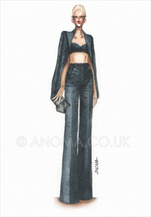 Viktor & Rolf - Resort 2012. Fashion Illustrations by Anoma Natasha Paleebut