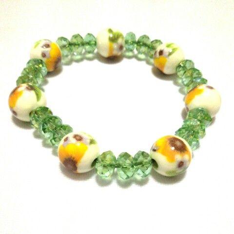 #gelang #bracelet #ceramicbeads #jewelry #accessory #handmade