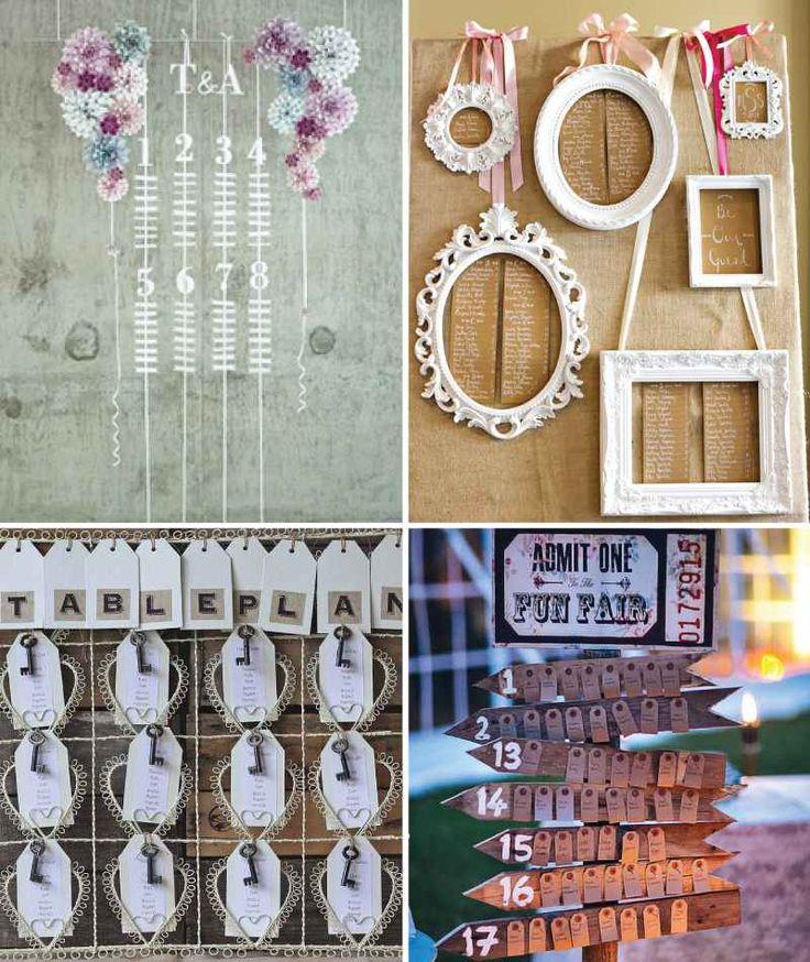 faire son plan de table mariage- idées charmantes de style champêtre chic ou vintage