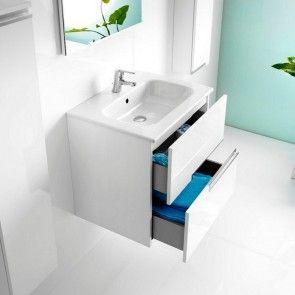 Roca mueble + lavabo Victoria-N basic blanco brillo