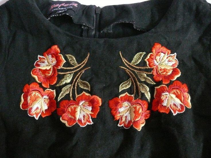 Hafcik sukienka folk góralska haft maszynowy róże - vinted.pl