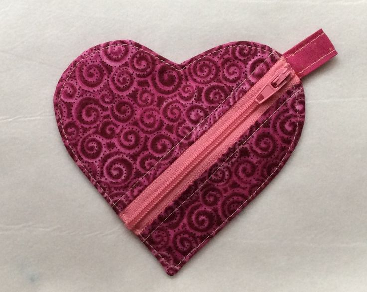 Great little Xmas Stocking stuffer. Mini Heart Pouch made from the tutorial available from DogUnderMyDesk.com.