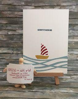 Geburtstag mit Innenleben  Richtig - das ist schon wieder Swirrlies-Alarm. Diesmal nicht als Hintergrund oder Blumen sondern das schöne weite Meer. Und ratzfatz hat die Bastlerin von Welt dann auch eine Männertaugliche Karte und zwar innerhalb von ca. 432 Minuten :-)  Die Wellen kann frau auch gut in die Innenseite der Karte kleben damit sie weniger schreiben muss:   Den Gutschein für den Mann im Geburtstagskind habe ich in den Umschlag verpackt. Der Umschlag selbst ist auch schnell gemacht…