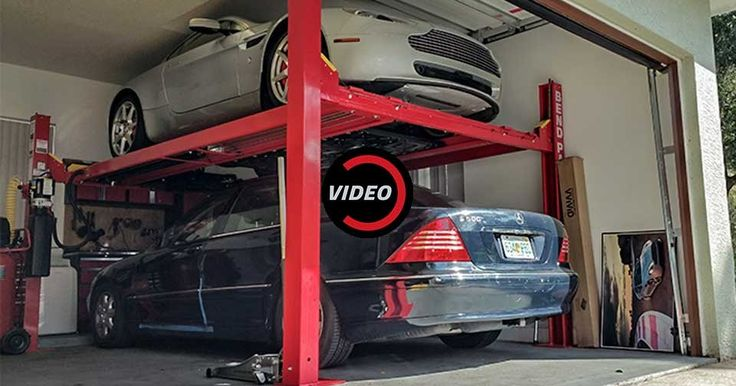 This Guy Installed A $5,000 Four-Post Lift To Make Room In His Garage #Offbeat_News #Videos