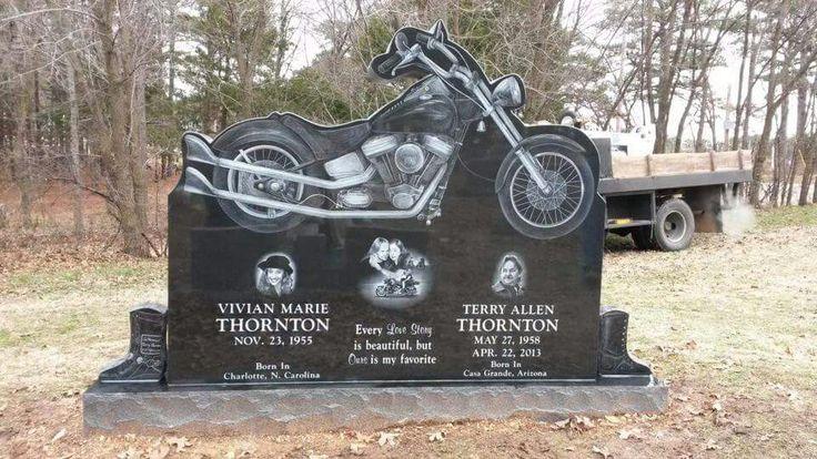 TERRY THORNTON MOTORCYCLE HEADSTONE