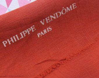 Men's French Cravat, Philippe Vendome of Paris, designer silk suit coat scarf, Gentleman's scarf from France @PumpjackPiddlewick on Etsy