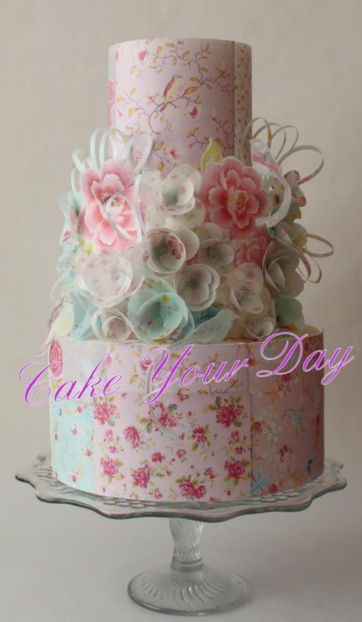 Cake Decorating Spring Flowers : Oltre 1000 idee su Torte Shabby Chic su Pinterest Torte ...
