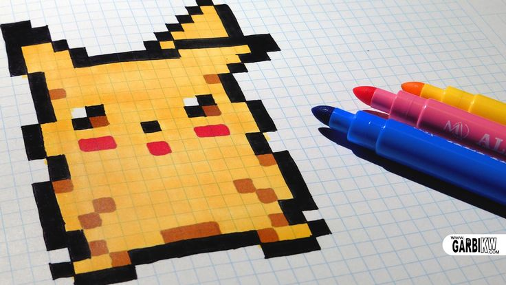 Handmade Pixel Art - How To Draw Pikachu #pixelart