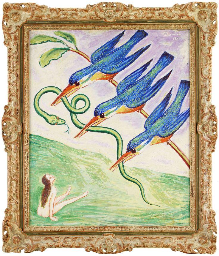 Den bortrövade ormen Signerad och daterad Dardel 1931. Olja på duk, 73 x 60 cm.
