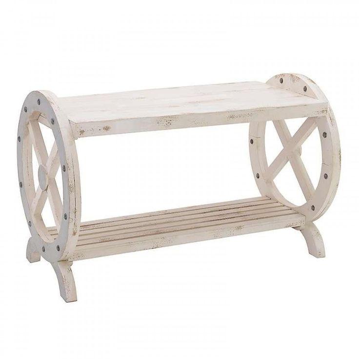 Τραπέζι Ξύλινο Λευκό Μπεζ 106x51x69cm