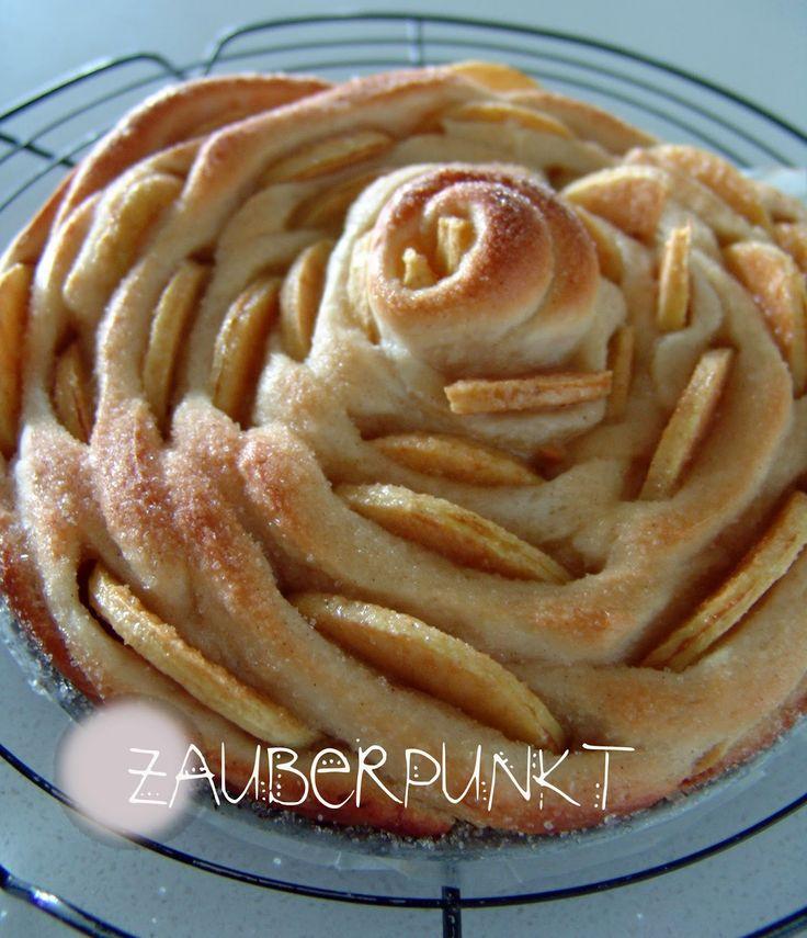 Caramelisierter Apfelspiralkuchen