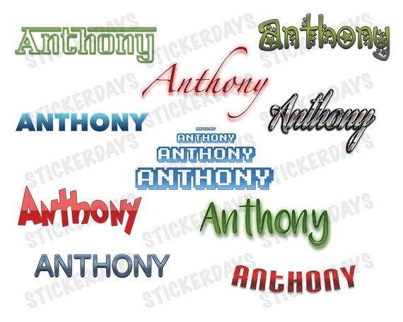 ANTHONY Boy Baby Name    Instant Download    Set of 22 ...