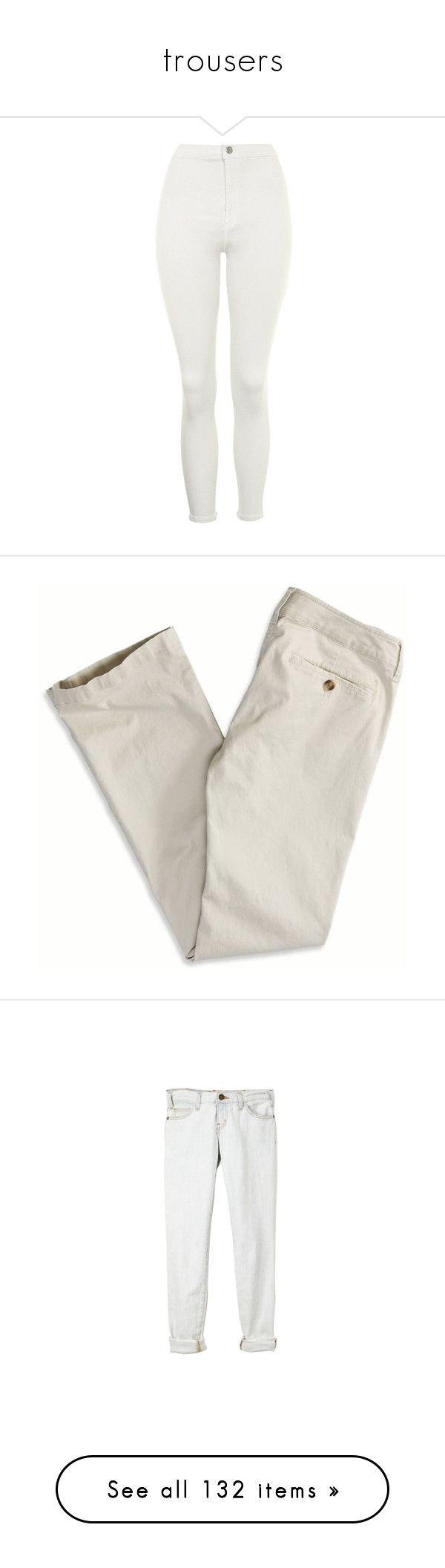 """""""trousers"""" by ouchm4rvel ❤ liked on Polyvore featuring jeans, petite skinny jeans, high waisted jeans, white jeans, denim skinny jeans, skinny jeans, pants, bottoms, slim fit trousers and slim pants"""