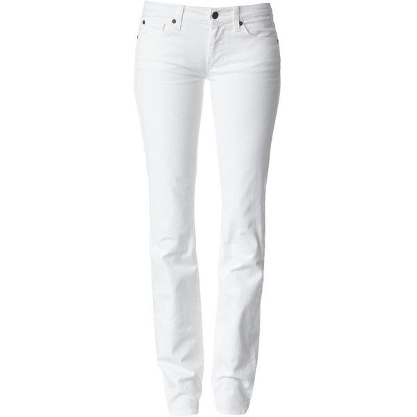 7 for all mankind STRAIGHT LEG - Jeans - white - Zalando.de, found on polyvore.com