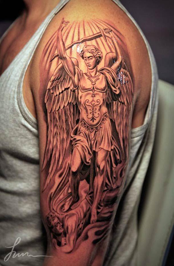 The tattoo artist jun cha creates beautiful and impressive for Greek sculpture tattoo