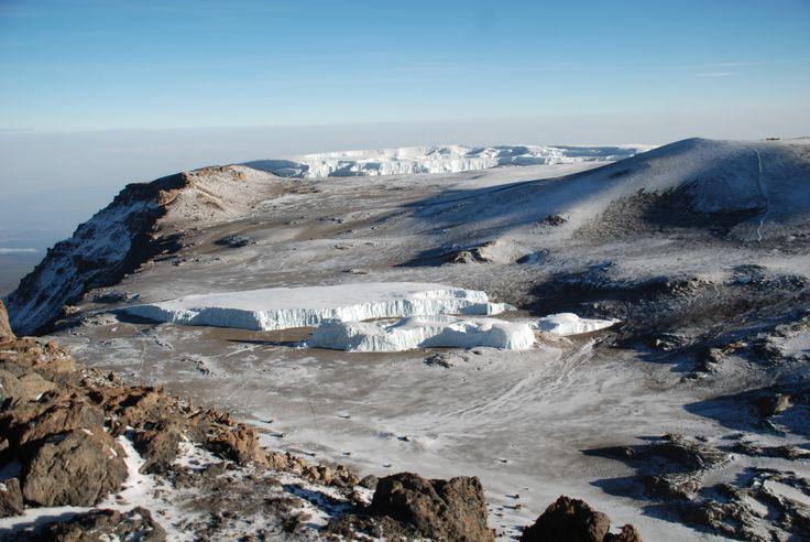 Kilimanjaro crater and the Furtwangler Glacier from Uhuru Peak.
