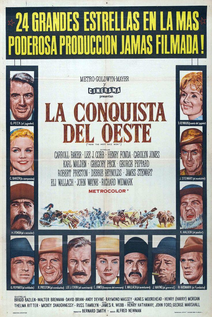 Cartel Argentino de La conquista del Oeste