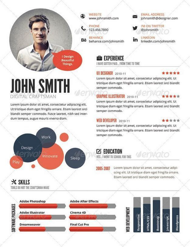 29 Infographic Resume Ideas For Examples Curriculums Creativos