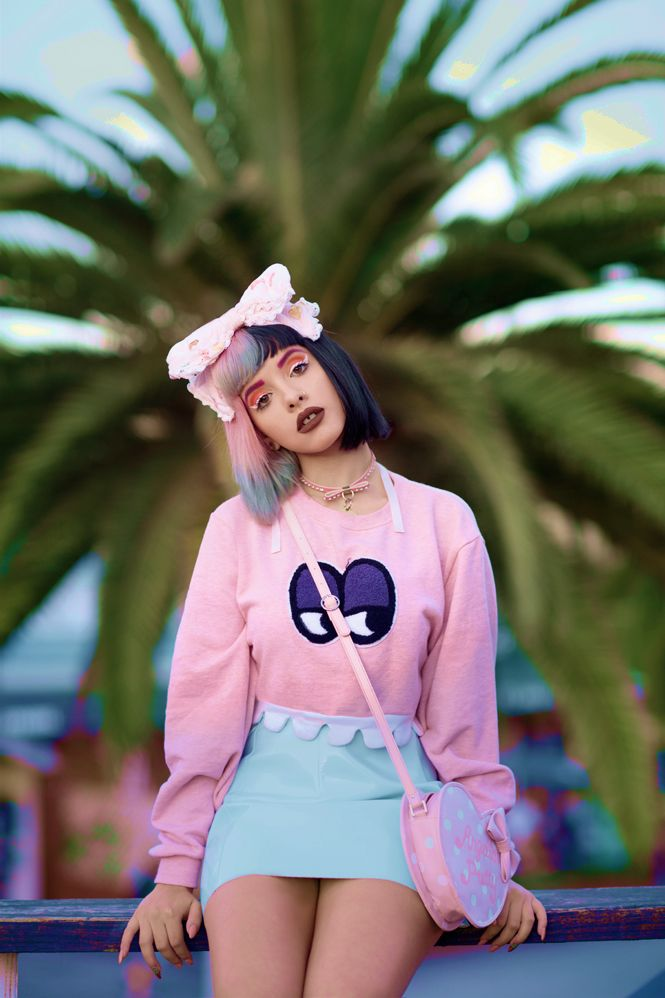 Melanie Martinez is now a model for Lazy Oaf and I definitely see her as a style inspiration. She's always dressing outside the box and switches up her hair colors all the time.
