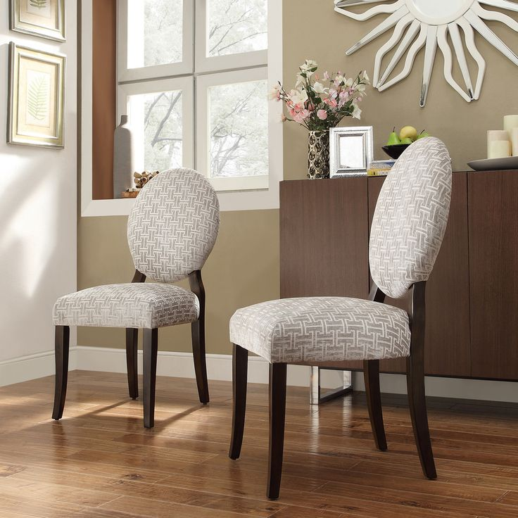 INSPIRE Q Paulina Grey Link Round Back Dining Chair (Set Of 2)   Overstock