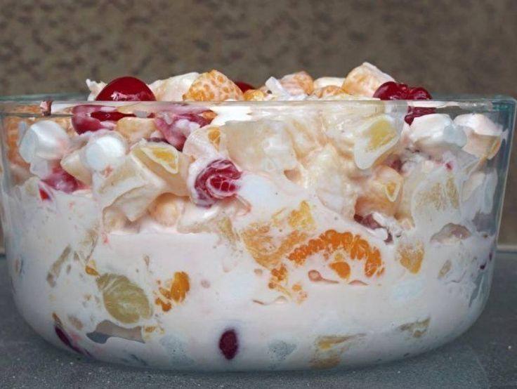 Ambrosia/Marshmallow Fruit Salad ~ good recipes