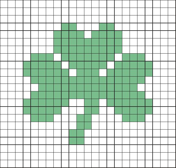 Shamrock graph for cross stitch, needlepoint, tapestry crochet?