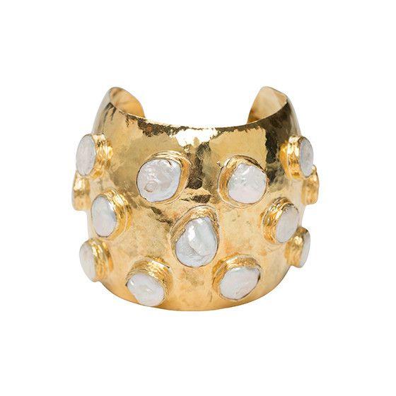 The Adonie Cuff Gold & Pearl | Christie Nicolaides