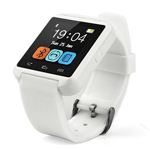Swees® U8 Bluetooth Smart Watch Inteligente Reloj Teléfono Compañero para Android IOS Iphone Samsung Galaxy HTC,Sony (Blanco, U8) - http://www.tiendasmoviles.net/2016/01/swees-u8-bluetooth-smart-watch-inteligente-reloj-telefono-companero-para-android-ios-iphone-samsung-galaxy-htcsony-blanco-u8/