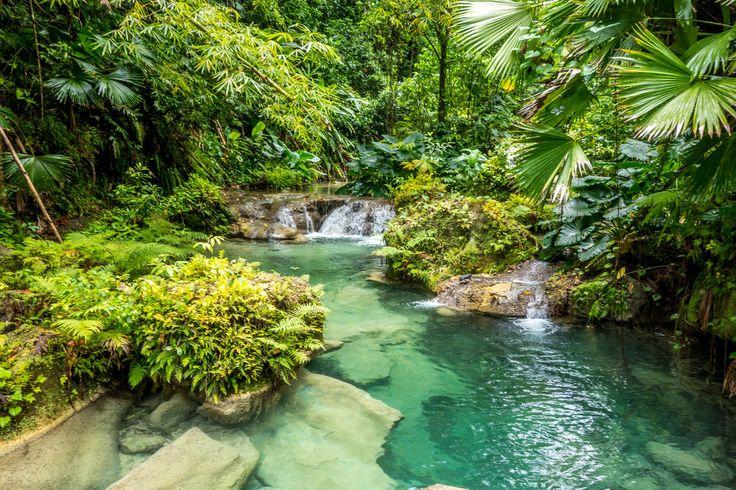 Reach Falls in Portland, Jamaica