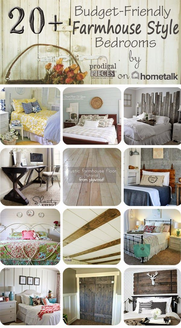 25 best ideas about Farmhouse style bedrooms on Pinterest