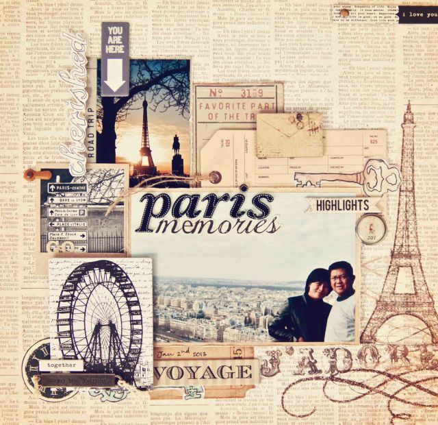 Paris Memories - 12x12 layout