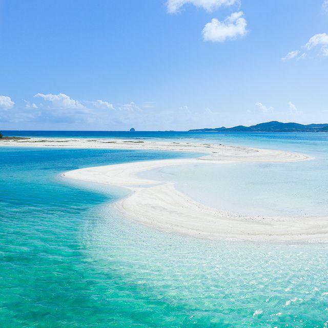 the coral cay beach...kume island japan...