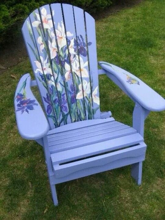 Beautiful Adirondack Chair For The Ladies To Love!