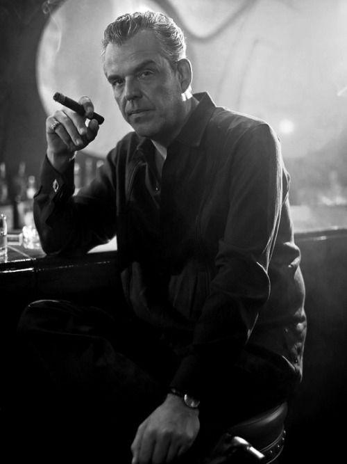 "lesravageurs: "" Ravageurs smoke cigars. | Danny Huston by Greg Williams """