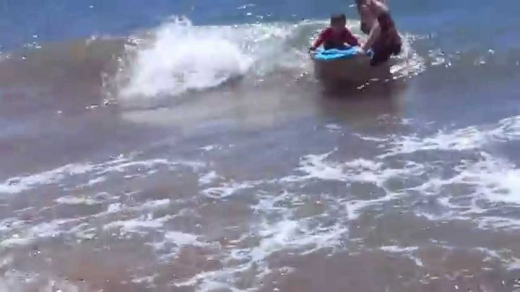 Learning how to Boogie Board in Maui, Hawaii. Follow our travel adventures at www.facebook.com/LifeRidingShotgun