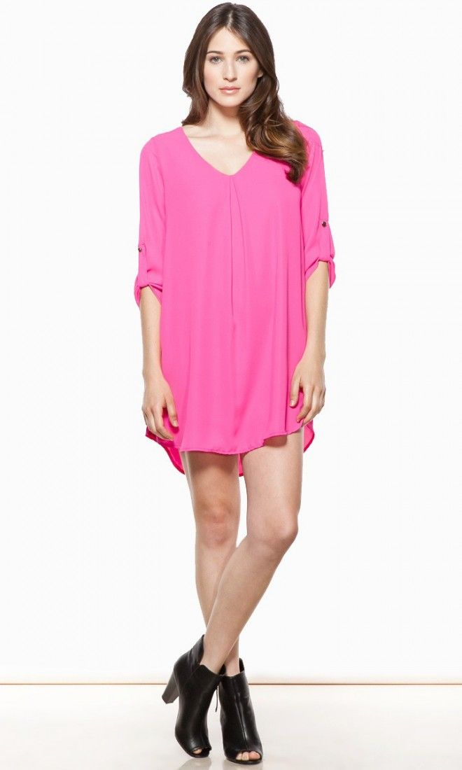 Forget Me Not Dress in Magenta