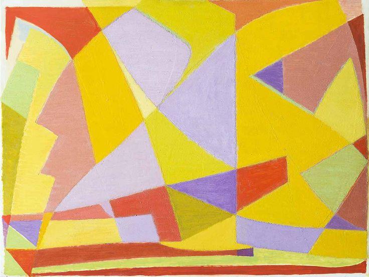 'Le Soleil du Midi' Oil on paper laid down on canvas: 48 x 64 cm by Othello Radou (1910 - 2006)