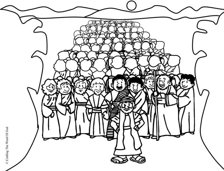 moses red sea coloring pages - photo#31