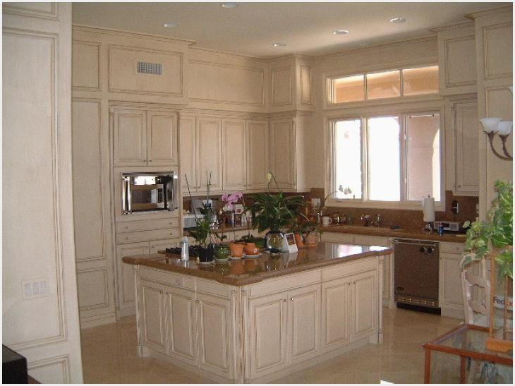 Cream Glazed Kitchen Cabinets Ideas
