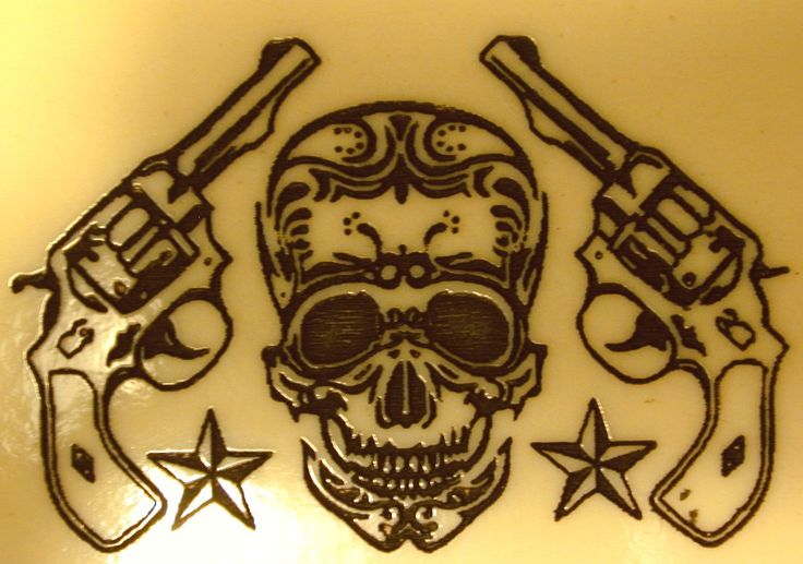 Skulls And Guns Tattoos: 1276 Best Images About Patronen Suger Skull's On Pinterest