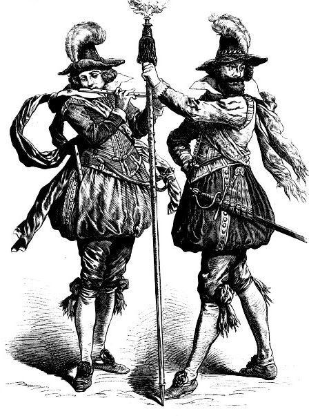 Немецкие солдаты, первая четверть 17-го века