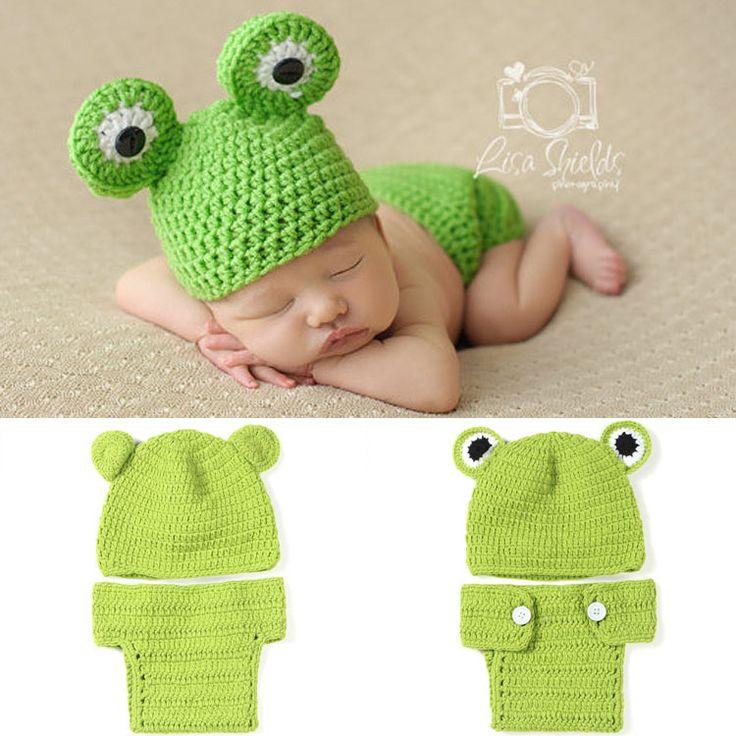 Фотографии реквизит новорожденного лягушки принца два комплекта рука шляпа хэллоуин рождество