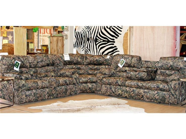 franklin living room dakota camouflage reclining sectional