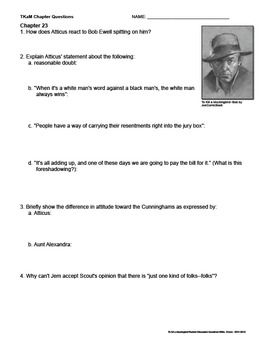 to kill a mockingbird reading guide question answers