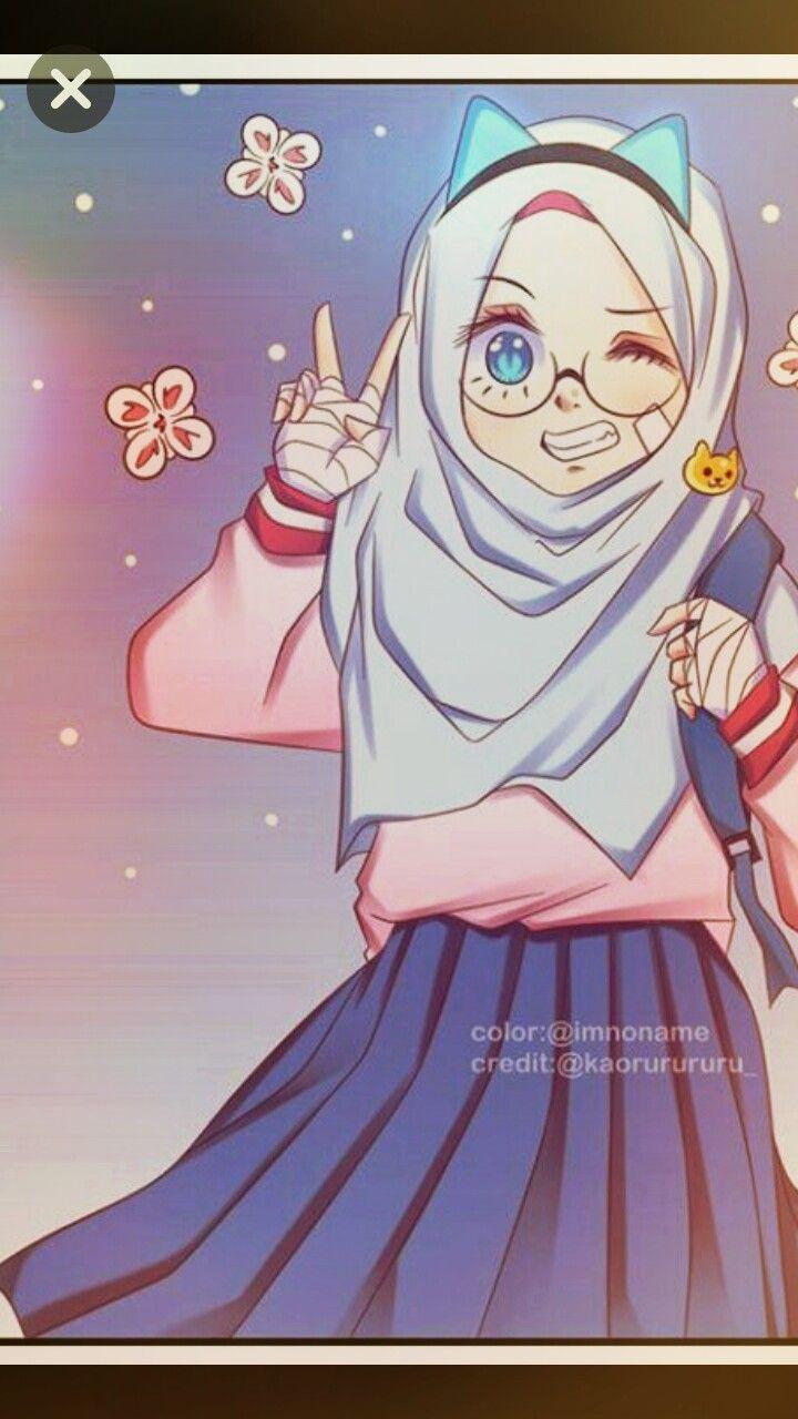 Pin By Khadijah Ismail On Hijap Anime Muslim Islamic Cartoon Cute Chibi
