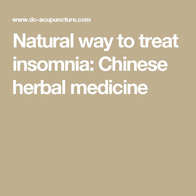 Natural way to treat insomnia: Chinese herbal medicine